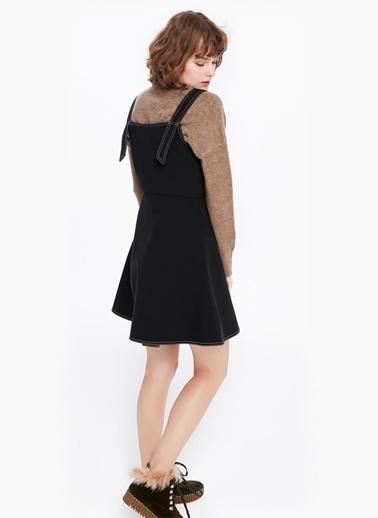 Eteği Volanlı Elbise-Twist